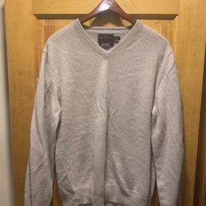 Black Brown 1826 Cashmere V-Neck Thin Sweater